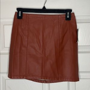 NWT | Forever 21 | Faux Leather | Mini Skirt